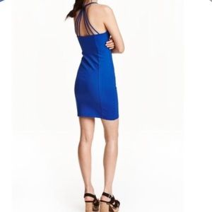 H&M Blue Tight Pencil Mini Dress